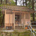 新山八幡神社 県指定重要文化財「木造女神坐像」