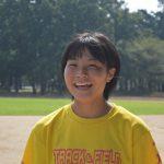 「得意のハードリングで全国挑戦」あさぎり町岡原 別府理保さん(14)