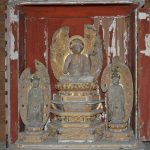 多良木町指定有形文化財「東光寺薬師如来坐像及び脇侍立像」