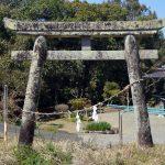 湯前町指定文化財「八王子神社石鳥居」